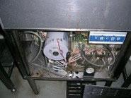 前面パネルを外した食器洗浄機