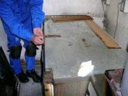 天板を外したコールドテーブル