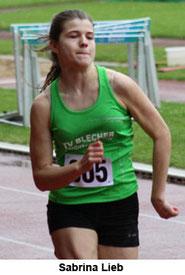 Sabrina Lieb bei Ihrem 100m Lauf-----Bild Kreis Oberberg