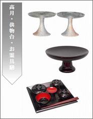 高月・供物台ボタン