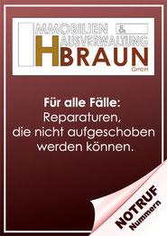 Notrufnummern der IH Braun GmbH