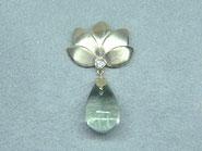 Anhänger Lotus Blüte Gold Tropfen Brillant Diamant