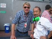 元F1世界チャンオピンのミカ・ハッキネンと、モナコで再会(笑)。