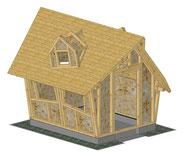 Hexenhaus als Gartenhaus