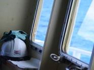 船内見学も最終航海ツアーならでは。