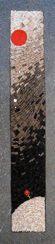 LA LUNE ET LA ROSE  110cmx25cm  (disponible)