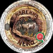 maremma sheep sheep's cheese dairy pecorino caseificio tuscany tuscan spadi follonica label italian origin milk italy matured aged black nero classic