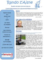 Rando Z'Aisne - lettre d'infos