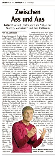 Alfred Dorfer im Kleinkunstverein Altbau e.V.