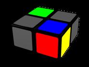cubo de 2x2x1, segunda opción