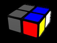 cubo de 2x2x1, tercera opción