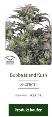 bubba island kush weibliche hanfsamen