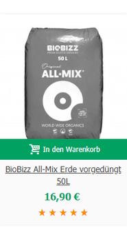 BioBizz All-Mix Erde vorgedüngt 50L