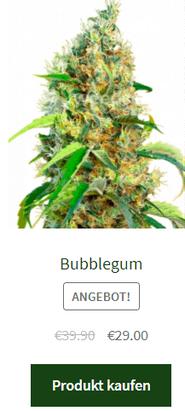 bubblegum fem. samen