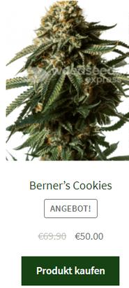 Berner's Cookies Samen fem.