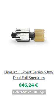 Papillon E-Light Low Profile 1000W 220-240V