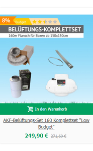 "AKF-Belüftungs-Set 160 Komplettset ""Low Budget"""