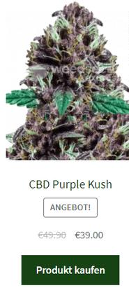 CBD Purple Kush autoflowering samen