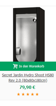 Secret Jardin Hydro Shoot HS80 Rev 2.0 (80x80x180cm)