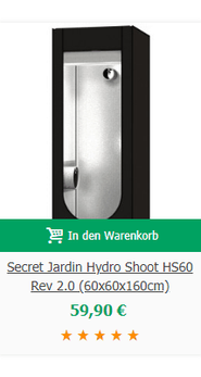 Secret Jardin Hydro Shoot HS60 Rev 2.0 (60x60x160cm)