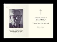 Trauerkarte Motiv Baumallee