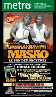 Les jumeaux de Masao article journal Métro Montréal
