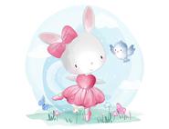 Wandtattoo Wandaufkleber Wandsticker günstig online kaufen  Mädchenzimmer Mädchen Zimmer Kinderzimmer Baby Kind  hase Ballerina Schmetterling Vogel