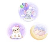 Wandtattoo Wandaufkleber Wandsticker günstig online kaufen  Mädchenzimmer Mädchen Zimmer Kinderzimmer Baby Kind  Schaf Mond Schlafen Gute Nacht Sterne Wolke Hase Luftballon Elefant