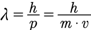 Formel zur Berechnung der De Broglie-Wellenlänge