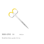 Metall-Iris-Schere, gerade, 11,5 cm
