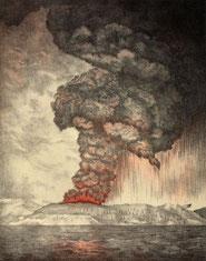 1883年のクラカトア火山噴火