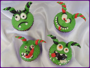 tuto cupcake petit monstre halloween pate a sucre