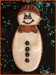 tuto bonhomme neige biscuit