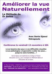 Conférence de Sonia Djaoui sur la Méthode Bates - Tours