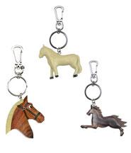 Schlüsselanhänger Pferde aus Holz