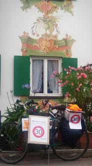 Radlpause in Unterammergau