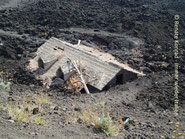 Von der Lava verschüttet