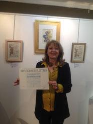 Prix d'enluminure 2020. Martine Saussure-Young Or-et-Caractères