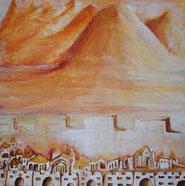 Morgenrot am Berg Karmel