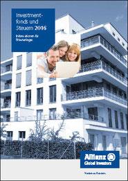 Broschüre Investmentfonds und Steuern 2016