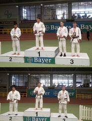 Daniel Detzel (Bild oben, ganz rechts) wurde Dritter, Eldar Tliashinov (Bild unten) wurde Turniersieger