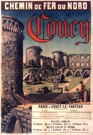 Affiche Paris - Coucy en train