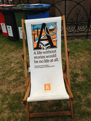 One of the delightful EIBF deck chairs