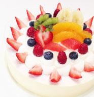 レアーチーズデコレーションケーキ