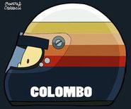 Helmet of Alberto Colombo by Muneta & Cerracín
