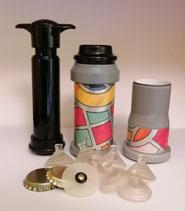 Modello Base completo di piccola pompa manuale  fa il sottovuoto nei barattoli e nelle bottiglie di vetro