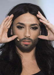 Conchita Wurst am Alpensymposium in Interlaken.