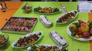 カラフルなエコケータリング(ドイツ料理の品々)
