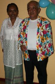vader en dochter tijdens 60 jaar jubileum