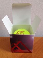 Tennisball verpackung, 1er Tennisballverpackung, Verpackung Tennisball, Einzelverpackung Tennis, Tennisverpackung